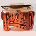 A wooden Jewelry box with stars on it